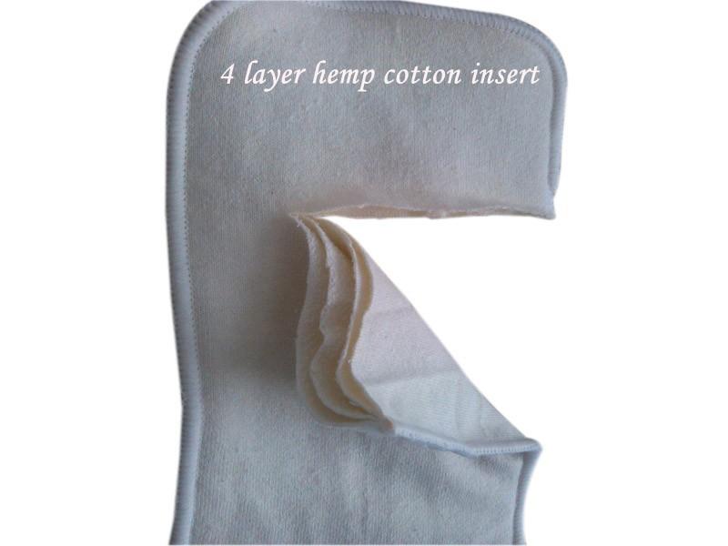4 layer hemop cotton insert