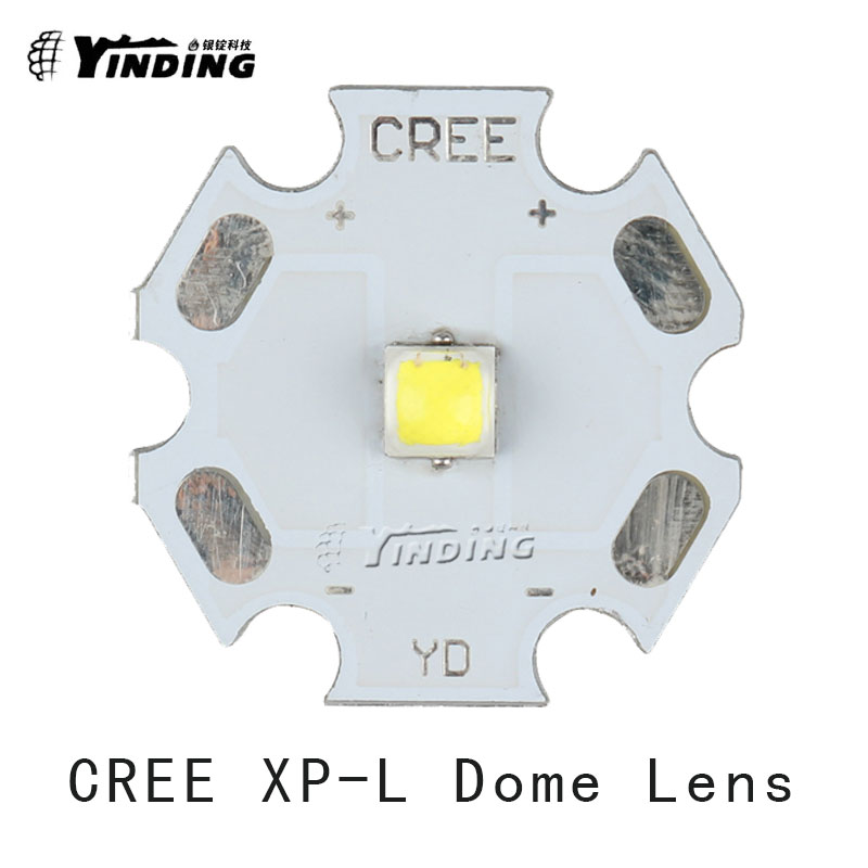 5pcs Cree XLamp XP-L XPL Dome Lens V5 V6 U6 10W LED Emitter Chip Blub Lamp Light Cold/Warm/Neutral White with 20MM PCB Heatsink(China (Mainland))