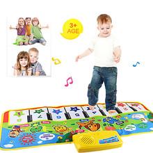 Best seller New Click Play Keyboard Musical Music Singing Gym Carpet Mat Best Kids Baby Gift Novo toque tocar teclado Nov1(China (Mainland))