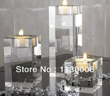 Wholesale 100% brand new romantic European-style home decoration Crystal candle holder Free shipping(China (Mainland))