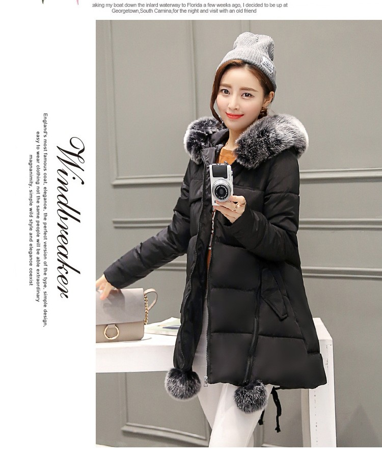 2016 Latest Winter Fashion Women Down jacket Hooded Thickening Super warm Medium long Coat Pure color Slim Big yards Coat NZ26