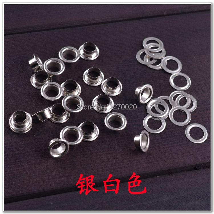 Гаджет  Free Shipping Diameter 8*4MM Silver Grommet Metal Eyelet 1000PCS Per Bag None Аппаратные средства