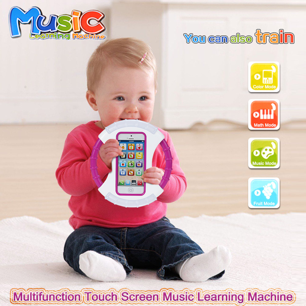 Popular Funny Toy Phones Baby Kids Toys Learning Machine Mobile Phone English Learning Music Playing Talking Toys 2 Colors(China (Mainland))