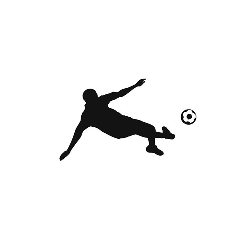 10.6*14.5CM Cartoon Images Of Football Matches Car Decals Covered Car Stickers Vinyl Reflective Surface Black/Silver C7-0367(China (Mainland))
