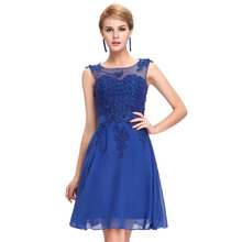 Black Pink Purple Red Green Short Prom Dresess 2017 Royal Blue Sexy Lace Applique Dress Evening Gown Elegant Vestidos de Baile(China (Mainland))