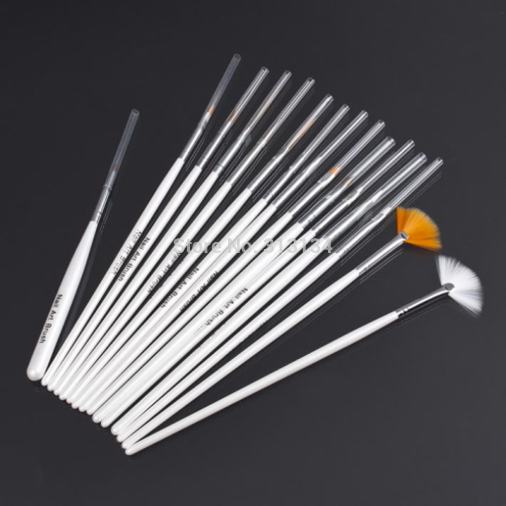 15 pcs Nail Art Decorations Brush Set Tools Professional Painting Pen for False Nail Tips UV Nail Gel Polish(China (Mainland))