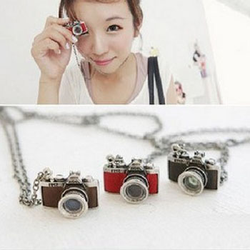 Vintage fashion Jewelry Black Camera Pendants & Necklaces long sweater necklace for men & women(China (Mainland))