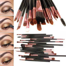 Pro 20 pz pennelli occhi trucco cosmetico dell'insieme di spazzola morbida polvere fondazione ombretto eyeliner lip brush kit make up brush set(China (Mainland))