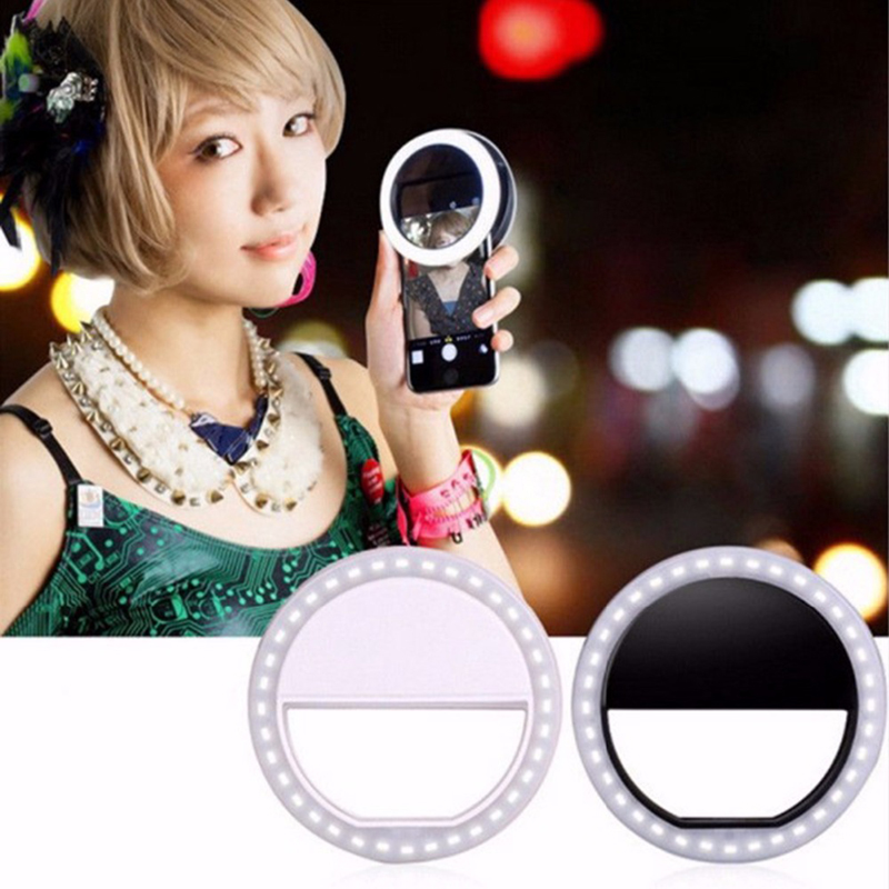Selfie Adjustable Bright Portable LED Ring Flash Light Camera Fill Light Photography Spotlight Flash For iPhone Mobile Phone(China (Mainland))