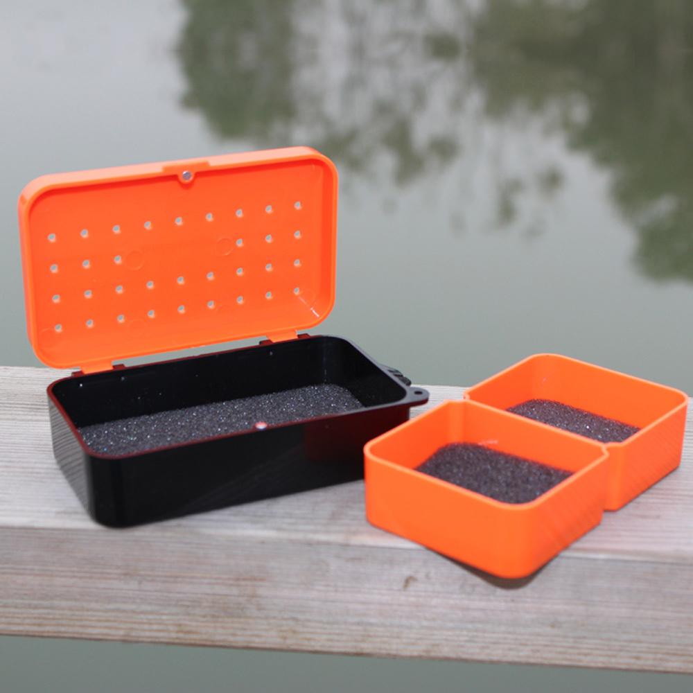 10 6 plastic fishing box carp fly fishing tackle for Fishing worm box