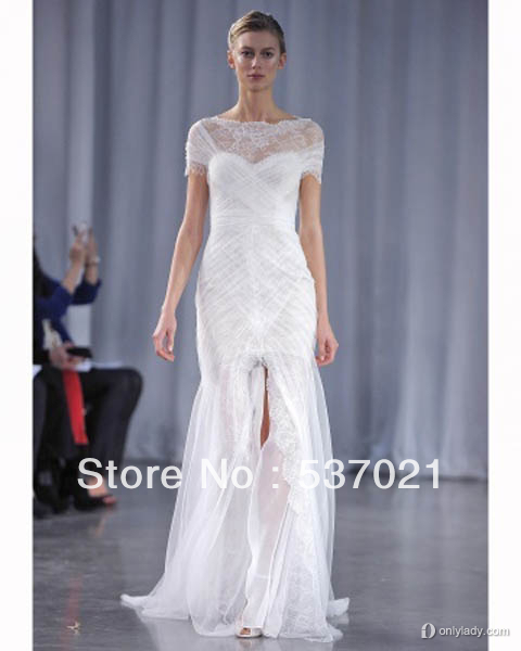 Wedding Dress Free Shipping Princess Lace See Through Wedding Dresses 2013 We
