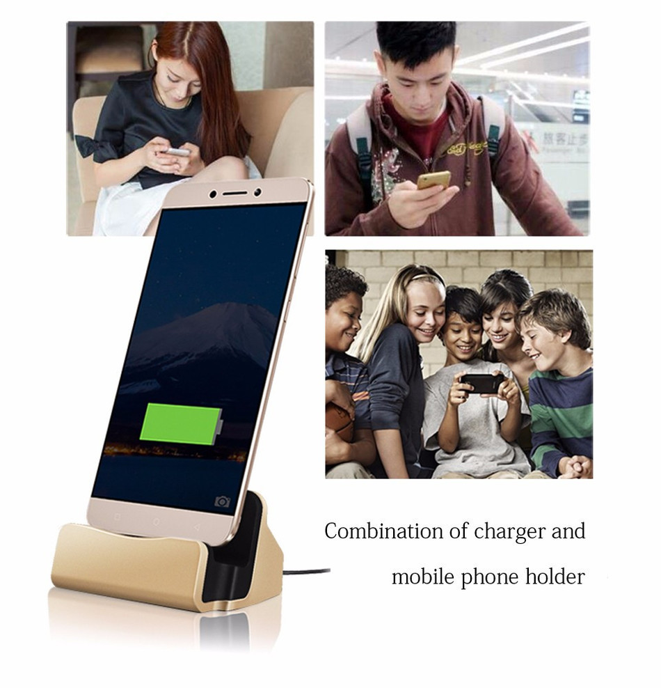 Data Type-C USB Cable Charger Desktop Charging Dock Station for Samsung S6 S7 for Huawei LeTV Xiaomi Type C Charging Stand CH158