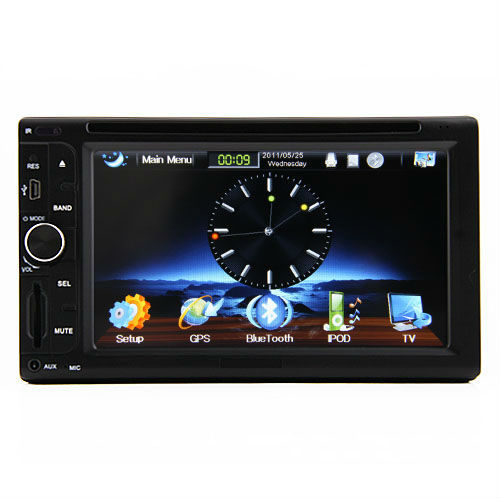 6.2 inch Double Din Touch Screen Stereo Car Radio Player With GPS Bluetooth USB MP3 RDS 3D PIP DVD CD Win6.0 Car PC Russia