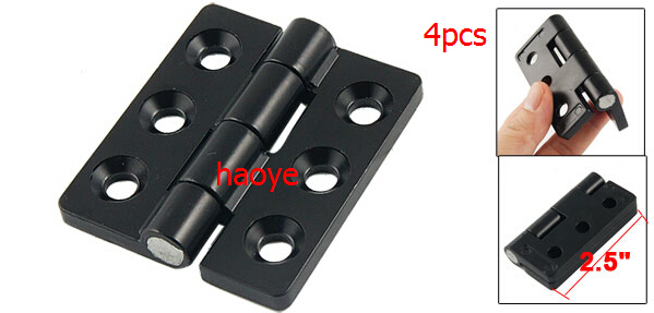 "LUOB3 Black 0.28"" Screw Cabinet Window Door Butt Hinge Replacement 4PCS(China (Mainland))"