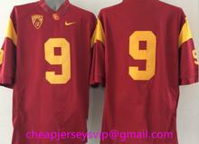 Cheap Men's USC Trojans Reggie Bush Robert Woods marcus allen Ronnie Lott O.J Simpson Matt Barkley Clay Matthews Embroidery(China (Mainland))