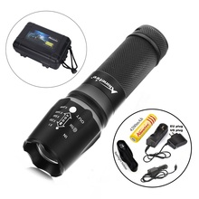 X800 1SET Zoomable 2000LM gun tactical Flashlights torch Waterproof light cree T6 led Camping+1x18650 Battery car charge holster(China (Mainland))