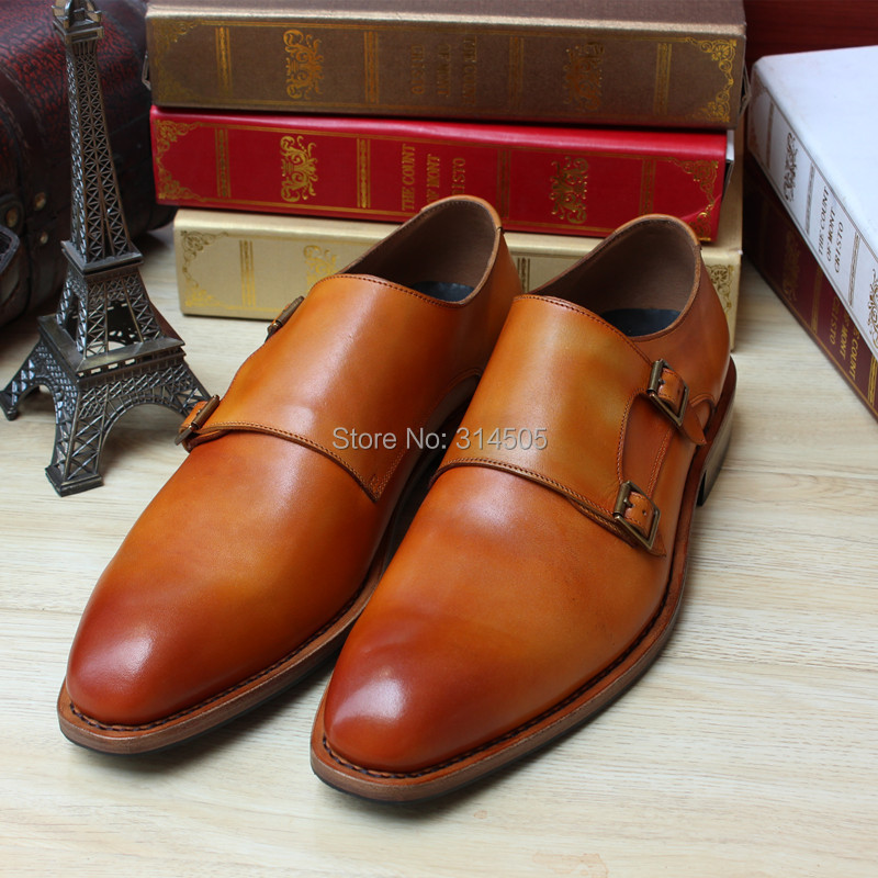 SKP87 Custom Goodyear Handmade Calf Leather Orange Color LOAFER HAND MADE Mens Flats Dress Oxford SHOES Accept OEM<br><br>Aliexpress