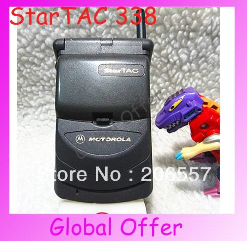 Motorola StarTAC Unlocked Original Motorola StarTAC 338 328 Mobile Phone Classic Cellection Old Cell phone Used Free Shipping(China (Mainland))
