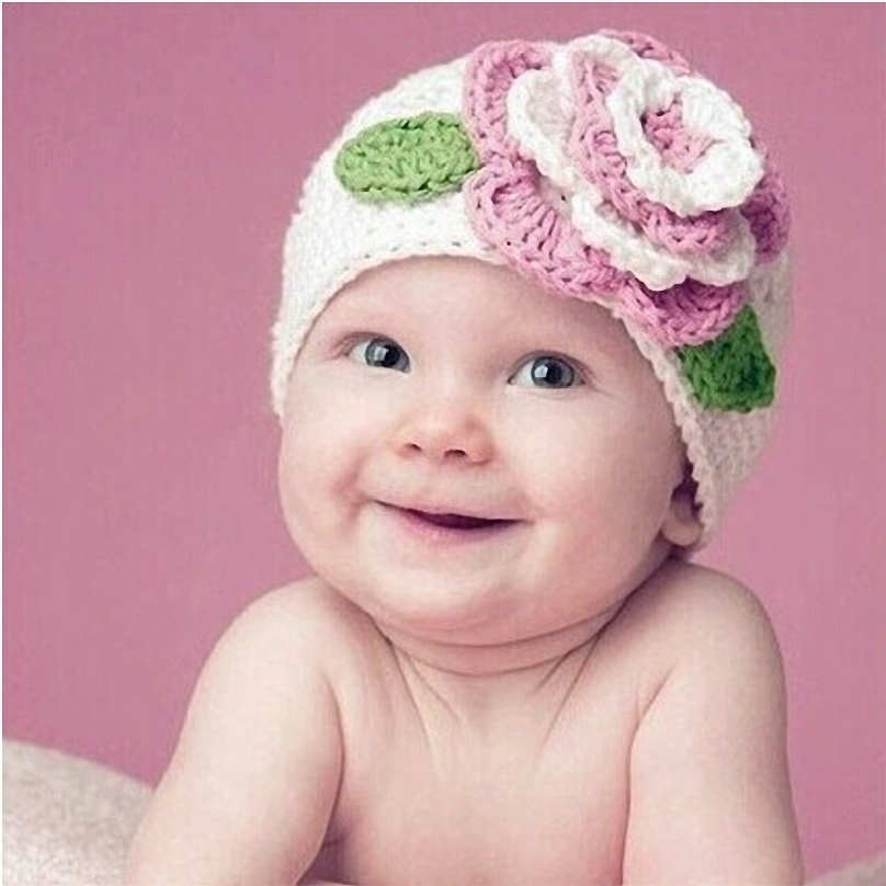 Knitting Pattern For Beanie With Flower : Popular Newborn Flower Hats-Buy Cheap Newborn Flower Hats ...
