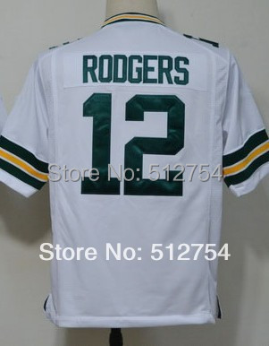 #12 Aaron Rodgers Jersey,Game Football Jersey,Best quality,Authentic Jersey,Size S M L XL XXL XXXL,Accept Mix Order(China (Mainland))
