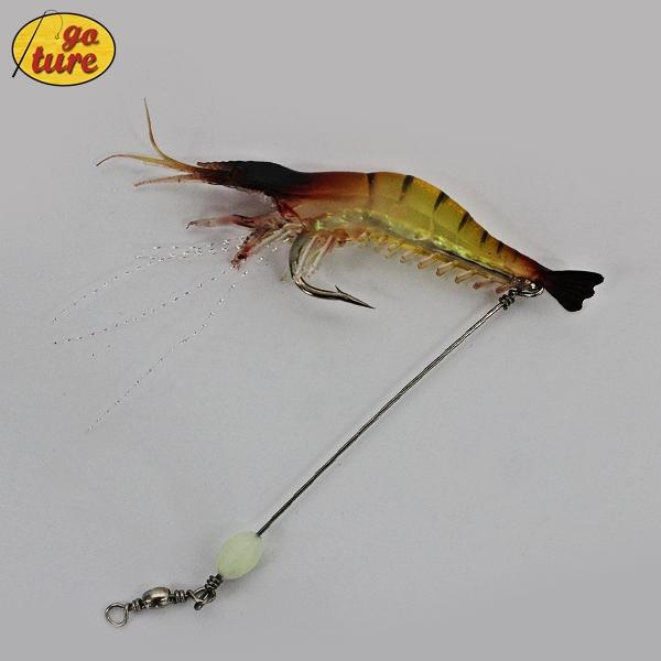 3 Piece 6g/9cm luminous shrimp lure soft fishing bait isca artificial fish baits - Goture Fishing store
