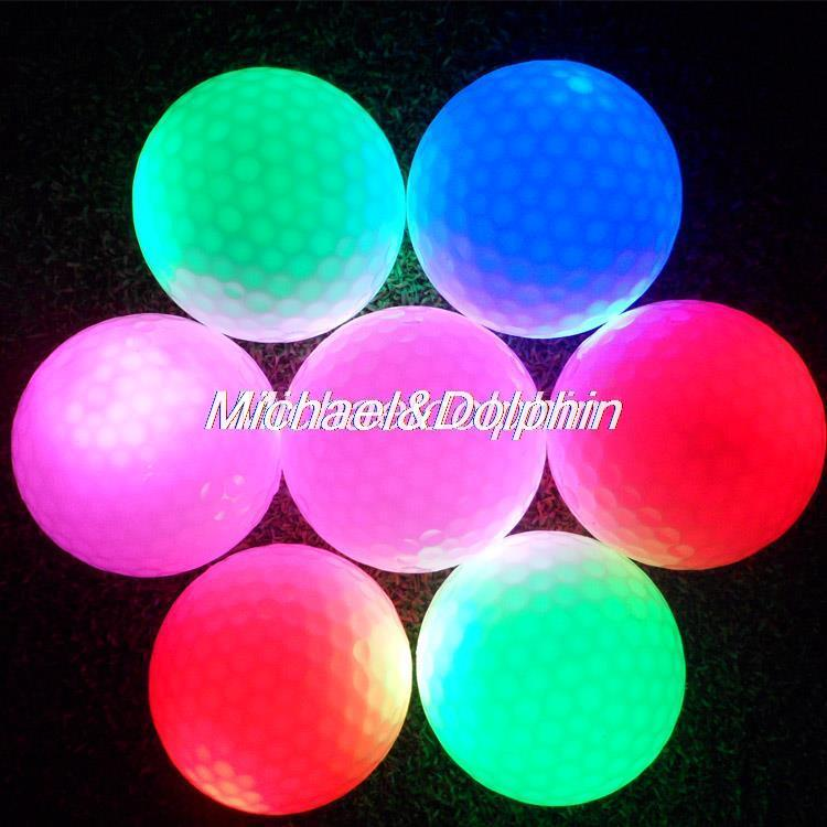 Free Shipping 3pcs Golf LED ball Golf Flashing Ball Night Golf ball(China (Mainland))