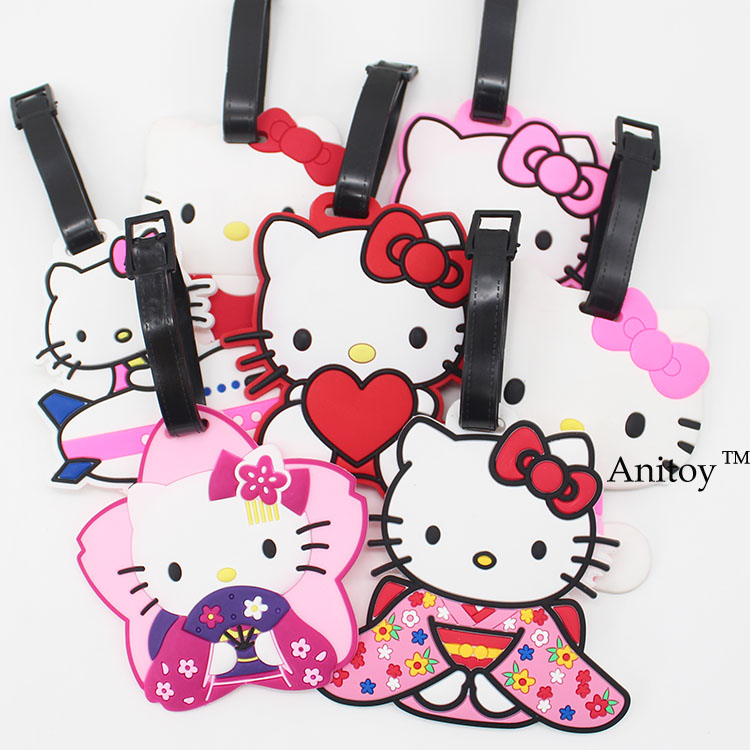 Cute Hello Kitty 10style creative silicone luggage tag pendants hang tags checked brand tourist products KT2712(China (Mainland))