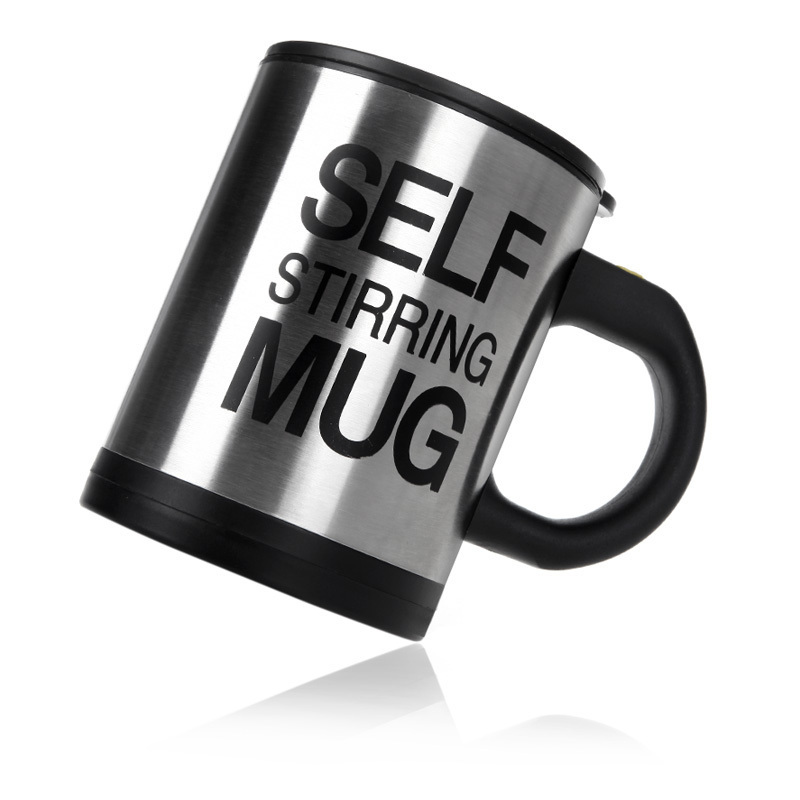 Automatic Electric Self Stirring Mug Coffee Mixing Drinking Cup Stainless Steel 350ml(China (Mainland))