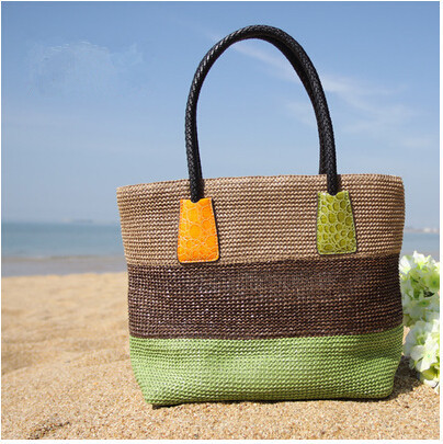 Summer women fashion straw handbag woven beach bag shoulder bag D135(China (Mainland))