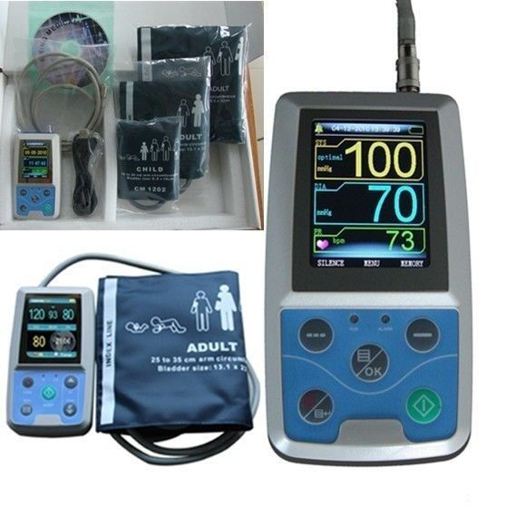 CE Contec ABPM50 24 hours Ambulatory Automatic Blood Pressure Monitor NIBP +SW<br>