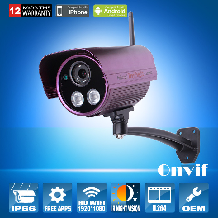 Onvif 1080P HD Wireless Network IP Camera Wifi Sony Sensor H264 Array IR Outdoor Bullet Security CCTV Camera 2MP<br><br>Aliexpress