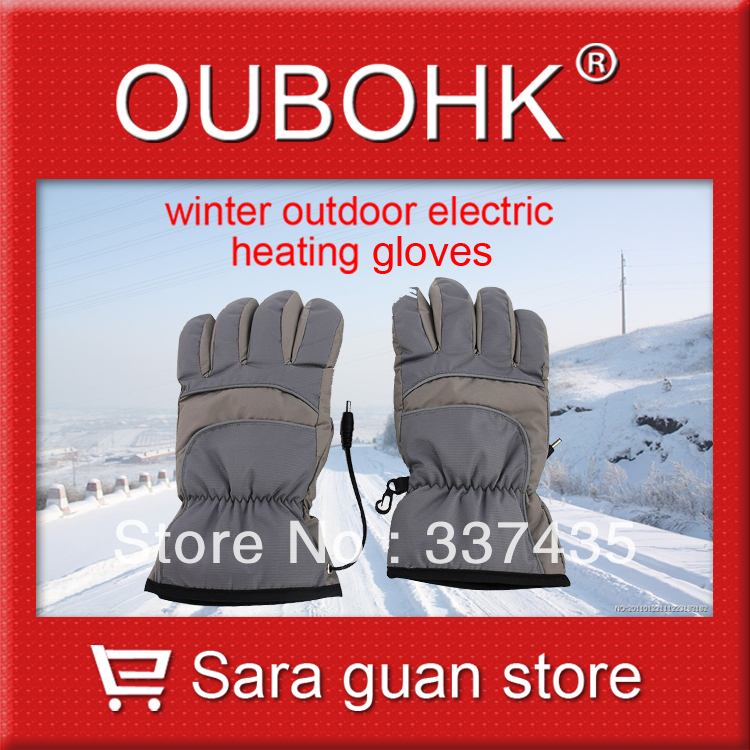 Electric Heated Gloves For Electric Bicycle Hot Sell Hands Warmer Outdoor Sports For Cold Enviroment Free Shipping Oubohk(China (Mainland))