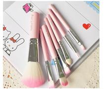 Sweet Pink Hello Kitty Cosmetic Brush Set 7 pcs set Makeup Brushes Set KCS