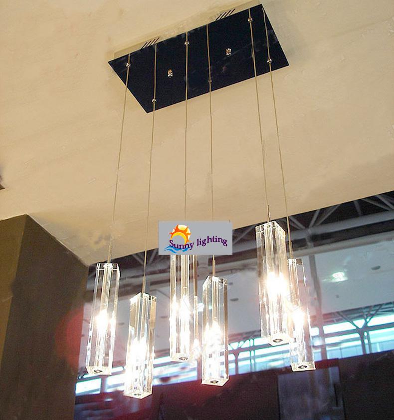 buy 6 lights dining room crystal lamp crystal chandelier suspension lamp. Black Bedroom Furniture Sets. Home Design Ideas