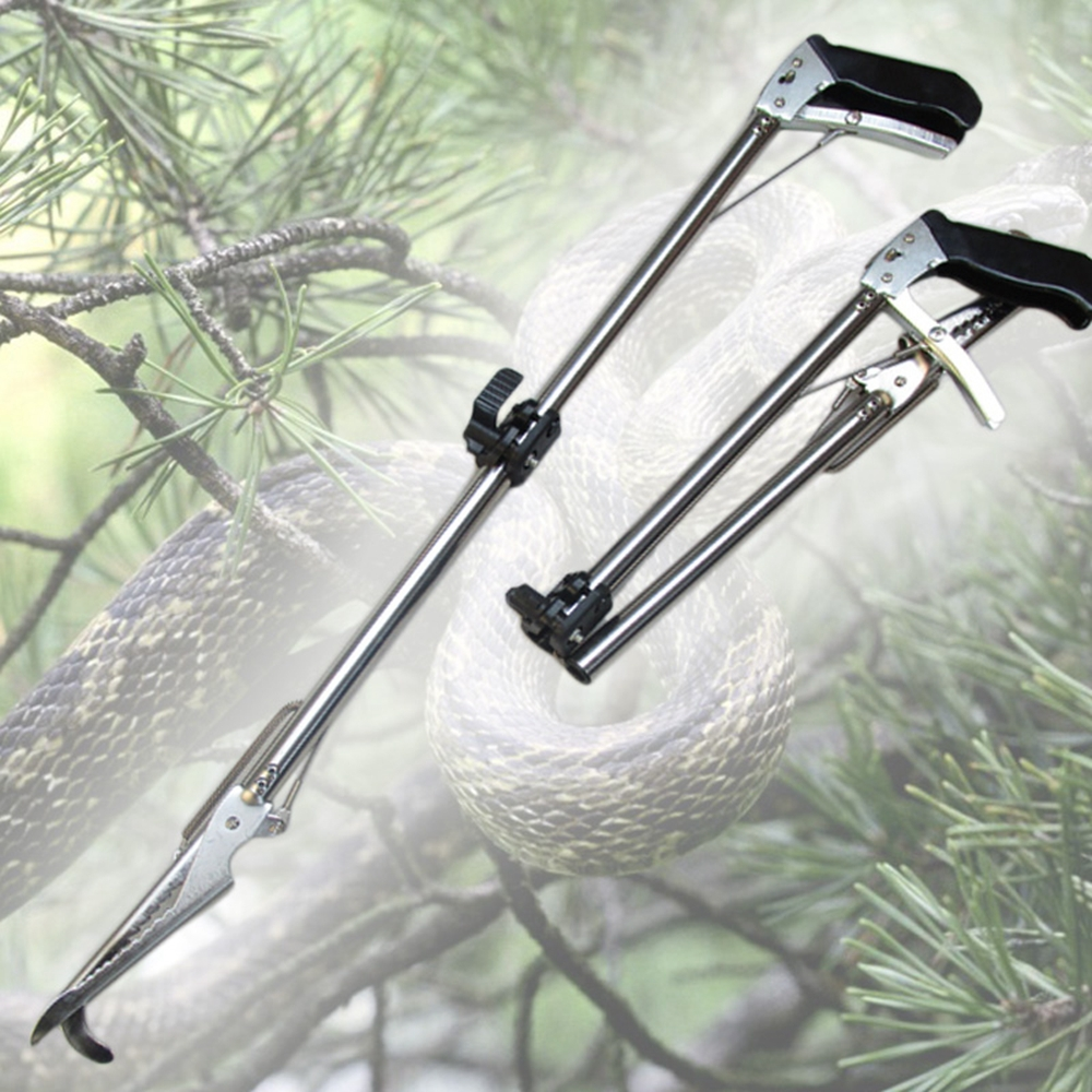 10pcs/lot Self-Lock Foldable Reptile Snake Tongs Stick Grabber Catcher Pro Herp Handling Tool Snake Catcher-Rattlesnake Grabber(China (Mainland))
