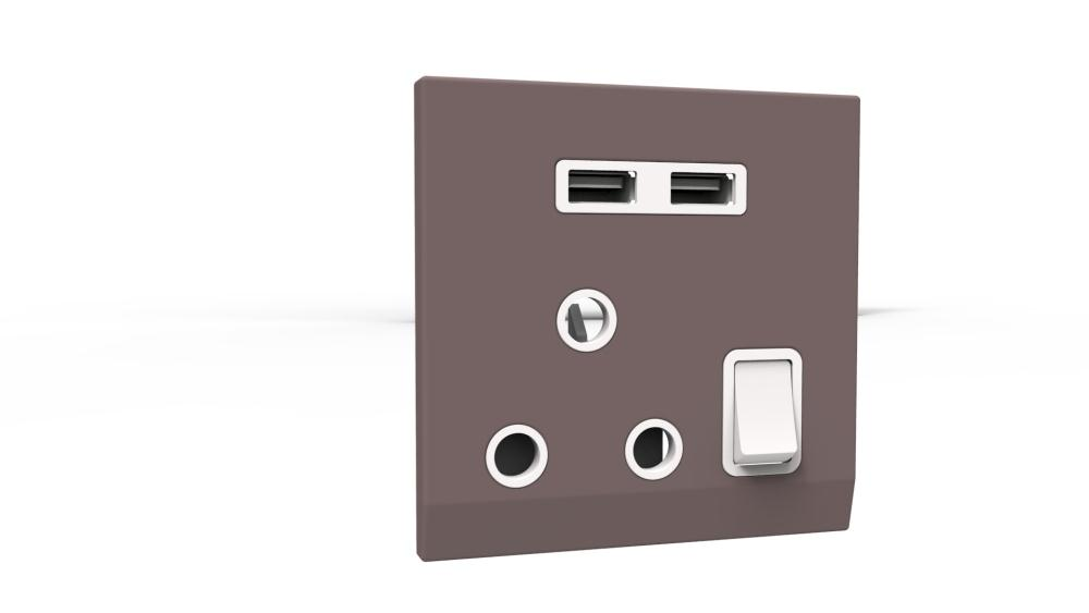 South Africa 86 type wall socket with USB interface charger South Africa South Africa plug wall switch socket(China (Mainland))