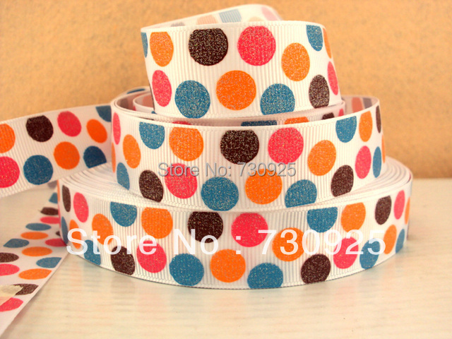 5Y6924 free shipping 7/8'' glitter printed ribbon Grosgrain ribbon whole sale and OEM minimum order USD 6.00(China (Mainland))