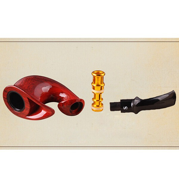 NEW ARRIVAL Bakelite wooden Tobacco Cigarette Smoking Pipe Filter Smoking Pipes with Gift Box