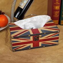 Завод прямого zakka юнион джек британский стиль ретро коробка творческий ткани салфетка коробка предметы интерьера