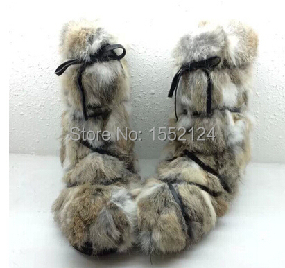 Здесь можно купить  Anabesting 2015 New Arrival Genuine Leather Short Boots Women Feathers Rabbit Fur High Heel Sheepskin inside Ankle Boots  Обувь