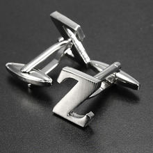 Onebyone  Men Shirt Suit Wedding Letter Stainless Steel Silver Cufflinks Gift(China (Mainland))