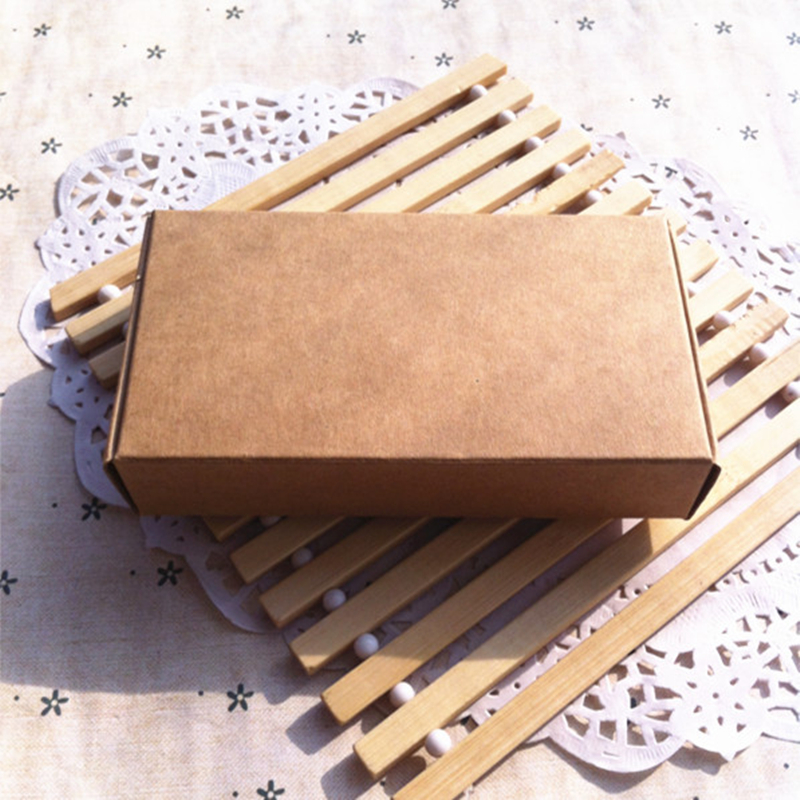 50 Pieces/lot 350gsm 13.3*6.8*1.8cm Kraft Paper Gift Phone Shell Packaging Box  -  Cheap And Good Super Market store