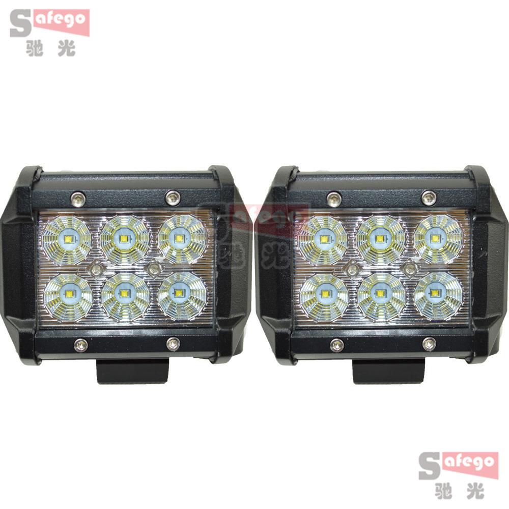 2pcs Cree 18w led light bar 60 degree 12v driving fog light for Tractor Truck Trailer SUV Off roads 4WD cree 18w led flood light(China (Mainland))