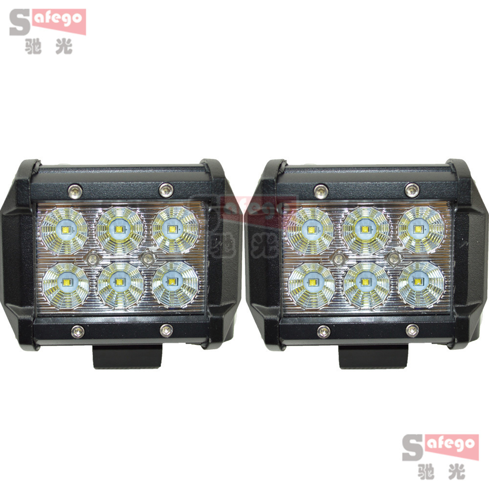 2pcs Cree 18w led light bar 60 degree 12v driving fog light for Tractor Truck Trailer SUV Off roads 4WD cree 18w led flood light(China (Mainland))