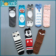 Christmas Gift Cotton Kids Socks Brand Designer Kawaii Pattern Children's Socks Boys Girls Cute High Socks Baby Leg Warmers(China (Mainland))