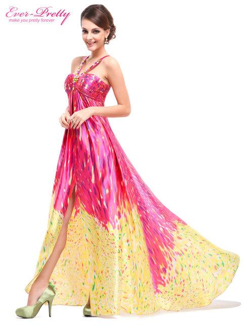 Длинные вечерние платья 2015 новое поступление цветочные печатный атласная мягкий ...