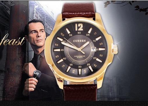 Men Sport Watches Casual Quartz Watch Leather Strap Wristwatch New Fashion Men Business Watch<br><br>Aliexpress