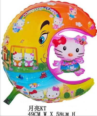Free Shipping Cute Newest Product Hello Kitty Cat and Moon Air Balloon(China (Mainland))
