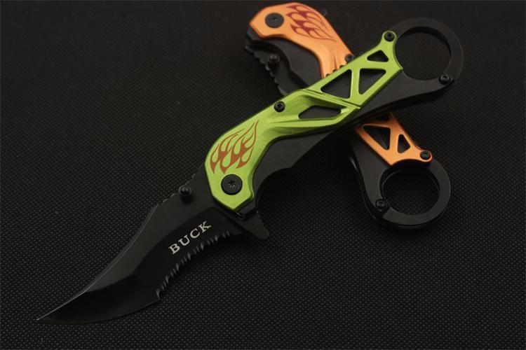 Buy Multi-purpose Cool Shape Karambit Tactical Folding Knife EDC Pocket Survival Camping Tools CS Go Beautiful Gift  Knife cheap