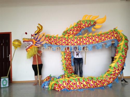 10m Length Size 3 silk print fabric  Chinese DRAGON DANCE ORIGINAL Dragon Chinese Folk Festival Celebration CostumeÎäåæäà è àêñåññóàðû<br><br>